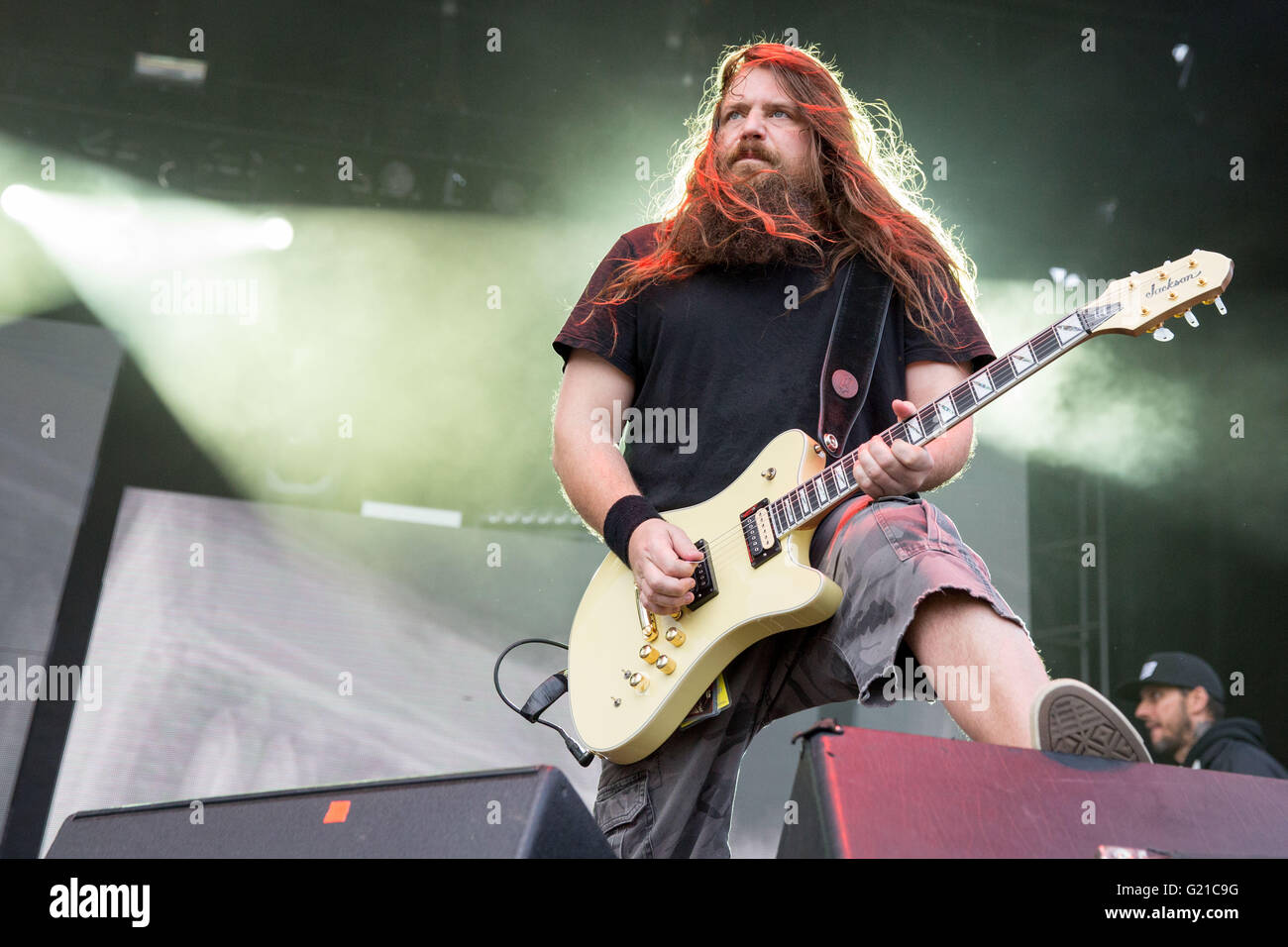 May 21, 2016 - Columbus, Ohio, U.S - Guitarist MARK MORTON of Lamb ... for Lamb Of God Live 2016  53kxo