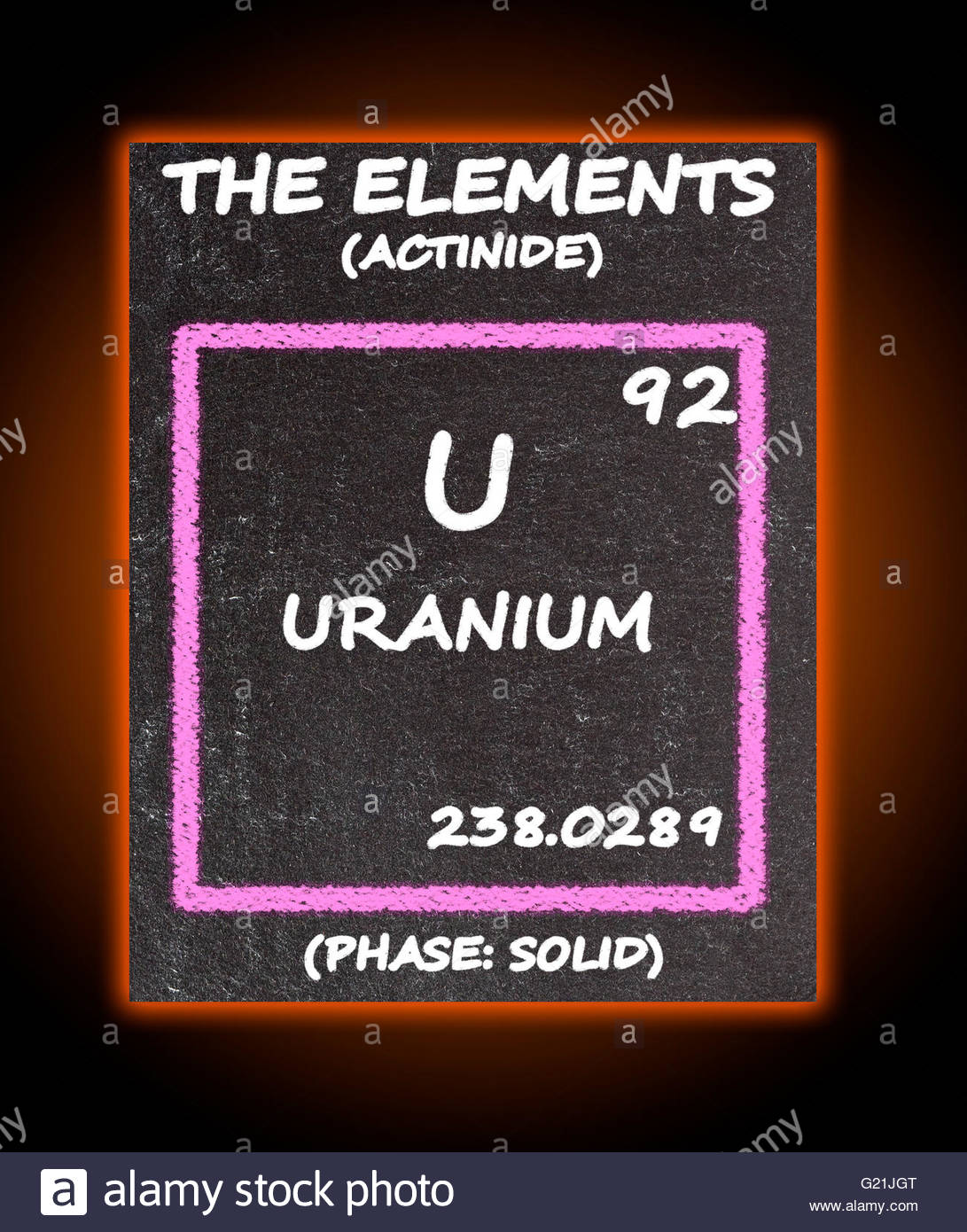 Uranium details from the periodic table stock photo royalty free uranium details from the periodic table urtaz Image collections