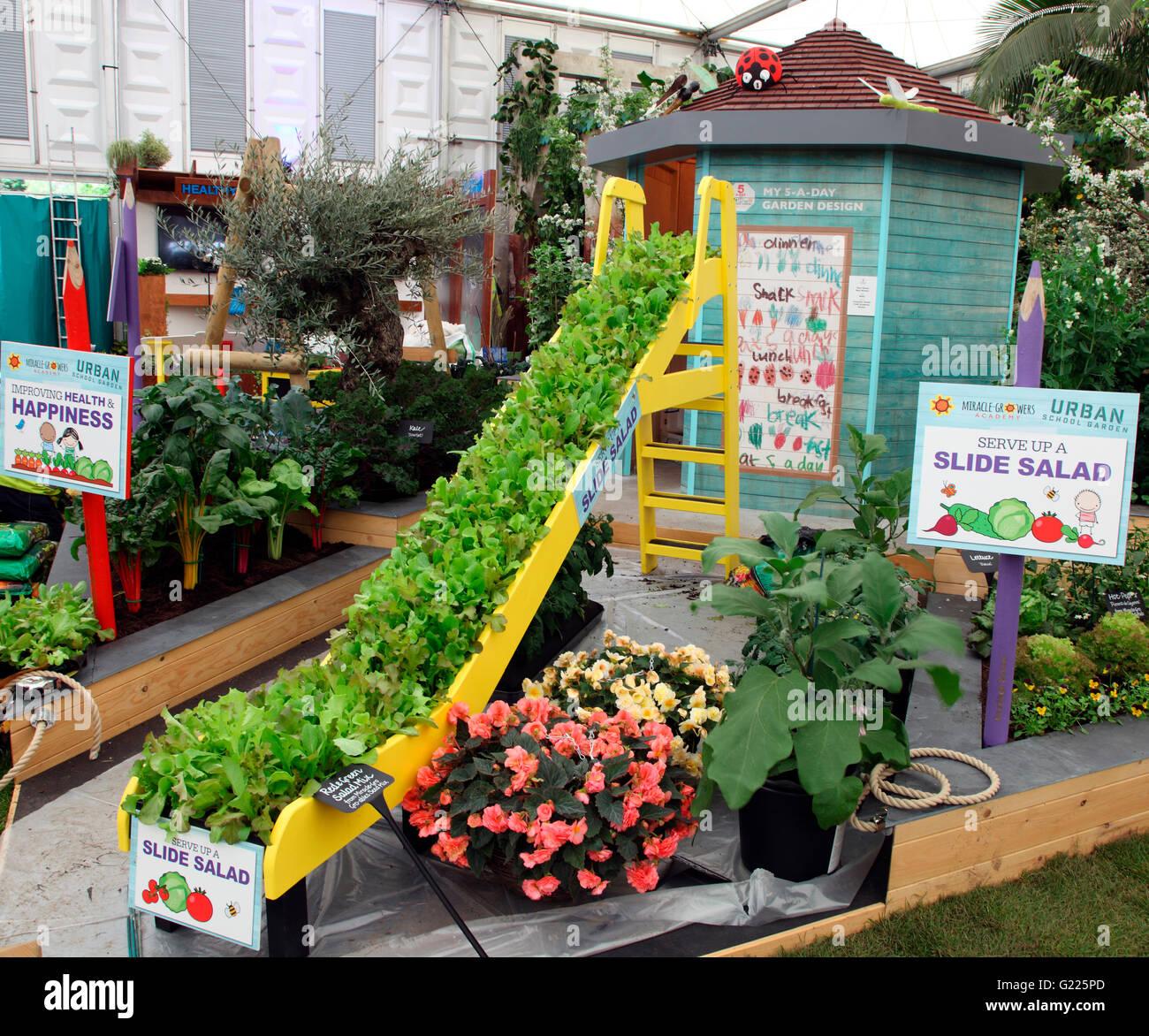 Garden Stock Image Image Of Design: Slide Salad In Miracle Growers Urban School Garden At RHS