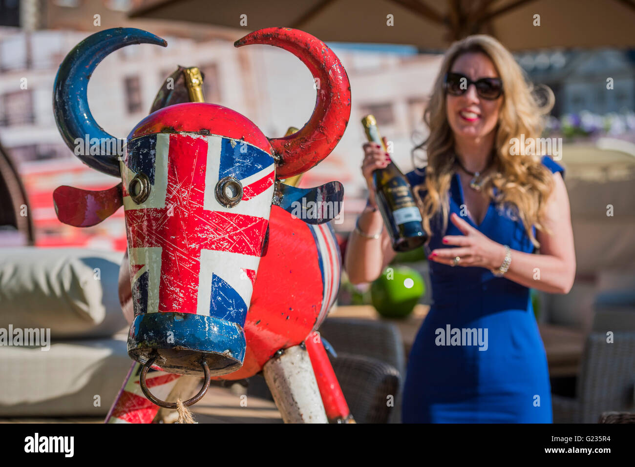london uk 23rd may 2016 the garden furniture centre stand credit guy bellalamy live news