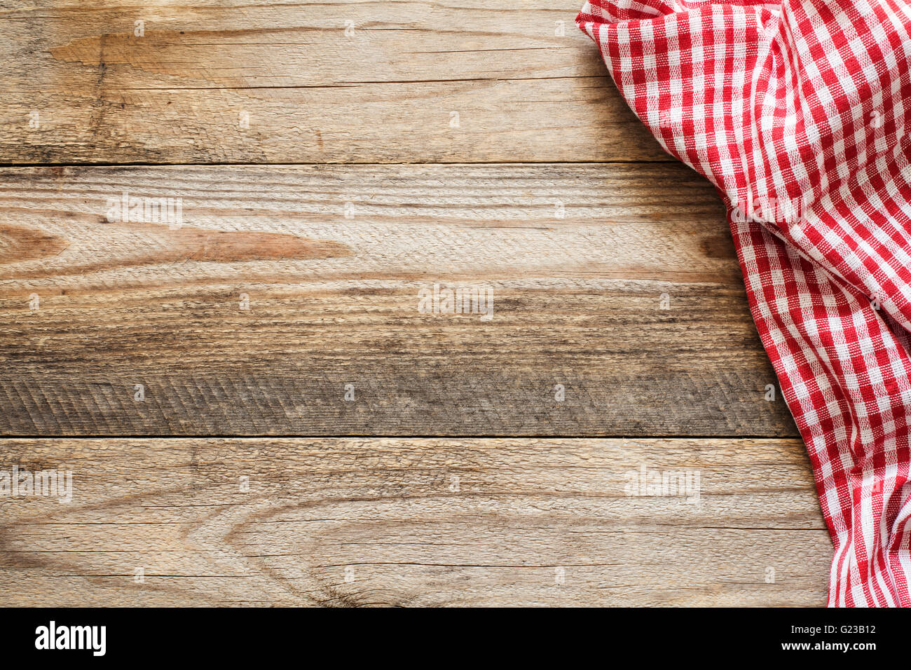 Wooden Background With Textile Cooking Food Pizza