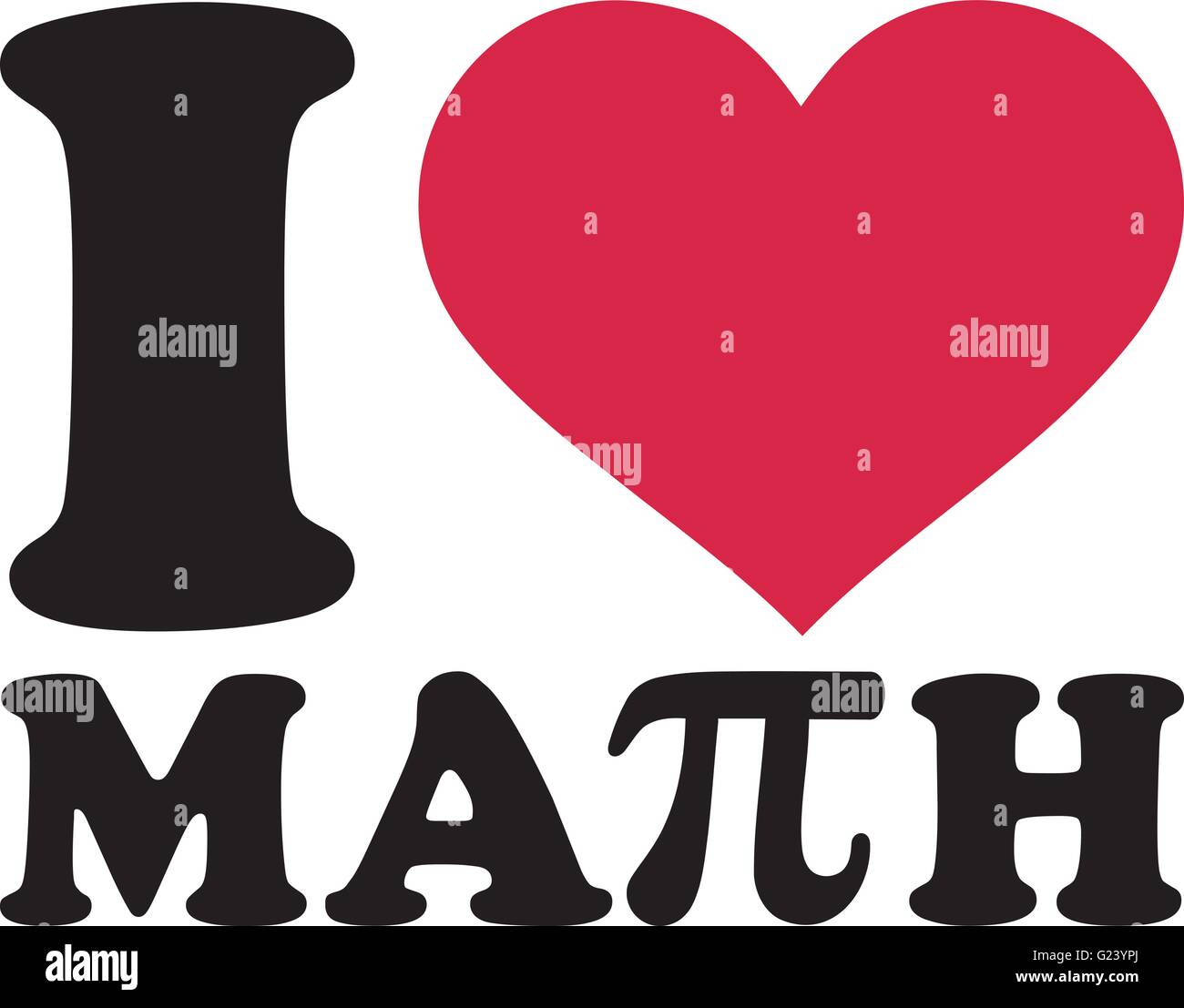 I love math with pi sign stock vector art illustration vector i love math with pi sign buycottarizona