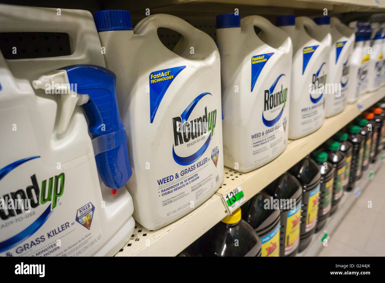 Containers Of Monsanto Roundup Weed Killer On A Garden Supply Store Shelf In New York Monday May 23 2016 Bayer AG The German Pharmaceutical And