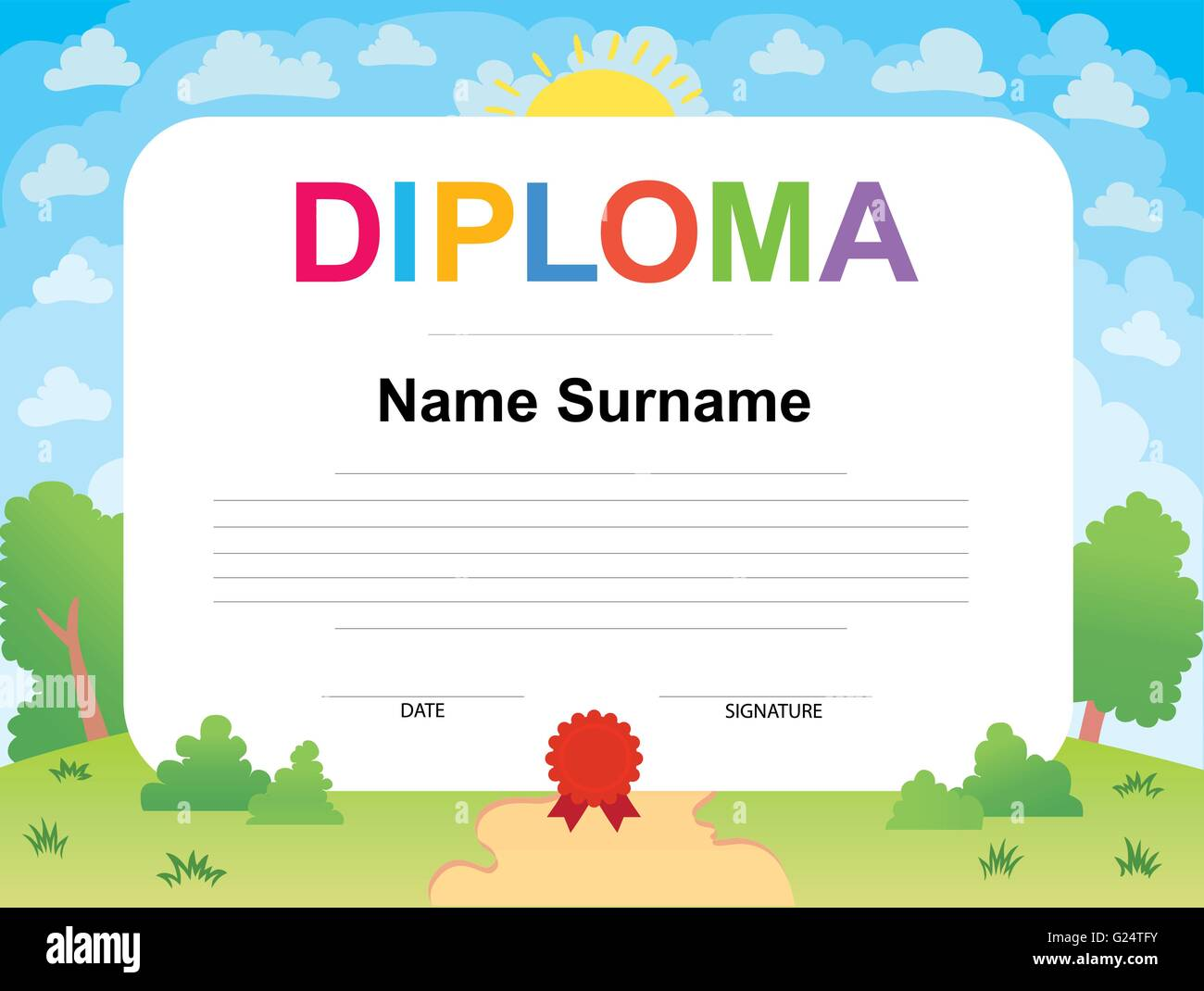 Certificate background stock vectors for Certificate template for kids