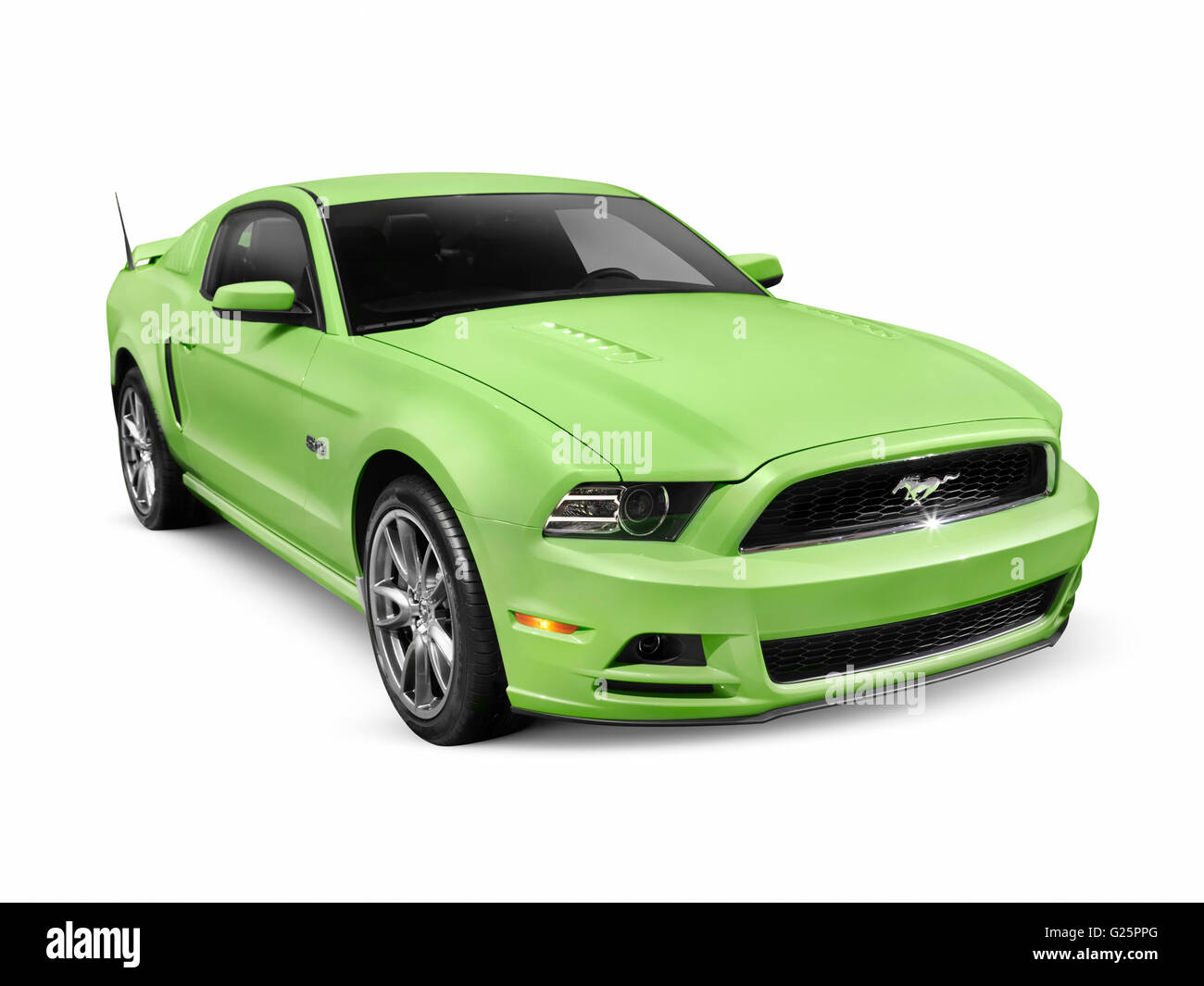 green 2013 ford mustang gt 5 0 sports car stock photo royalty free image 104619160 alamy. Black Bedroom Furniture Sets. Home Design Ideas