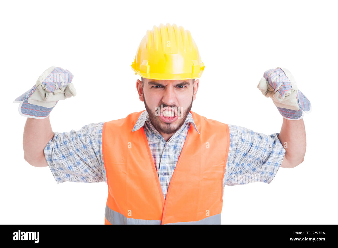 Hung construction worker aggressively fucks muscle bottom