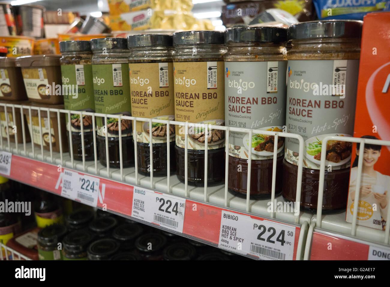 Bbq Sauce For Sale Part - 18: Korean BBQ Sauce On Sale In A Supermarket,Cebu City,Philippines