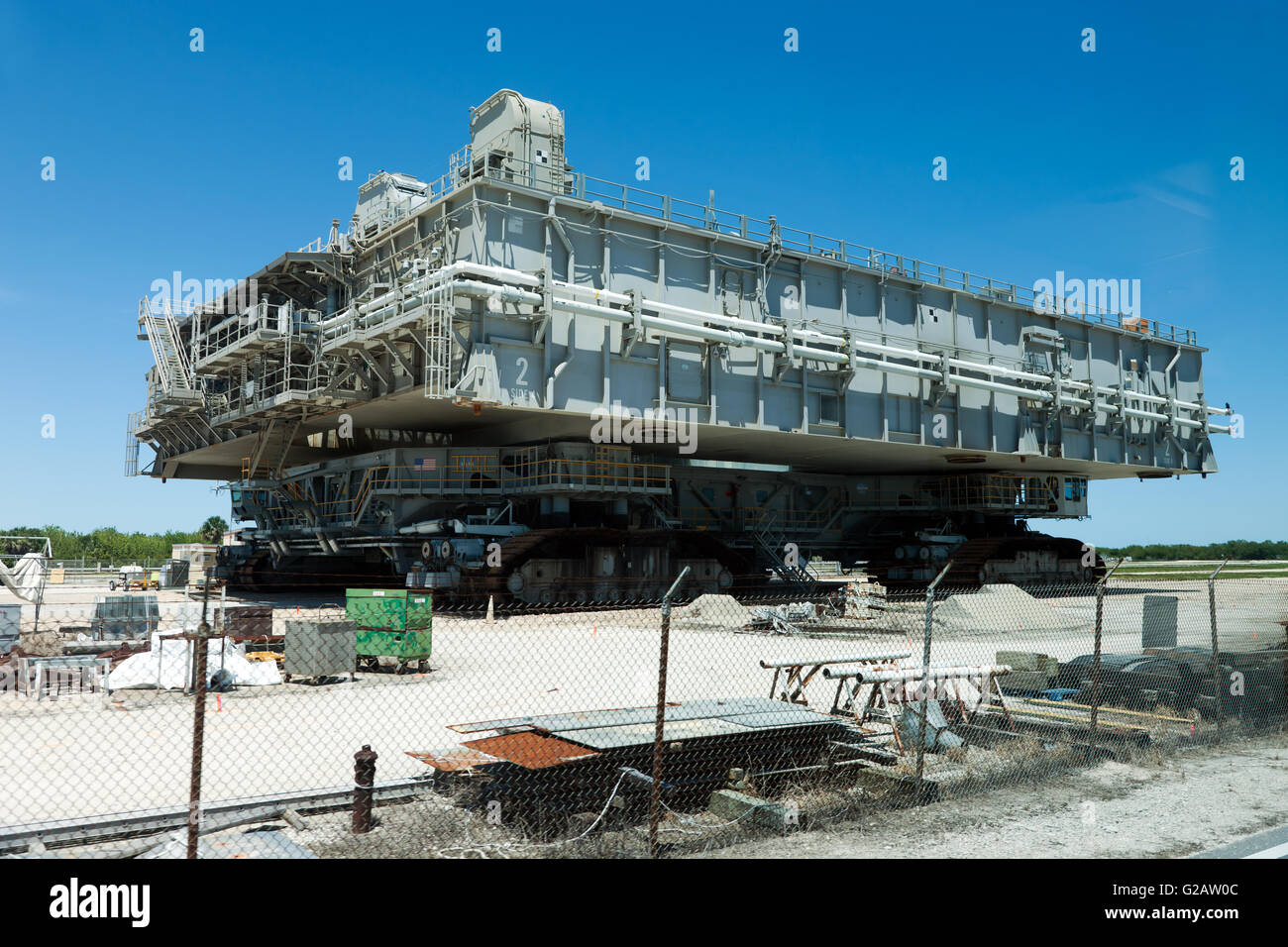 A NASA Crawler transporter, used to transport the Space ...