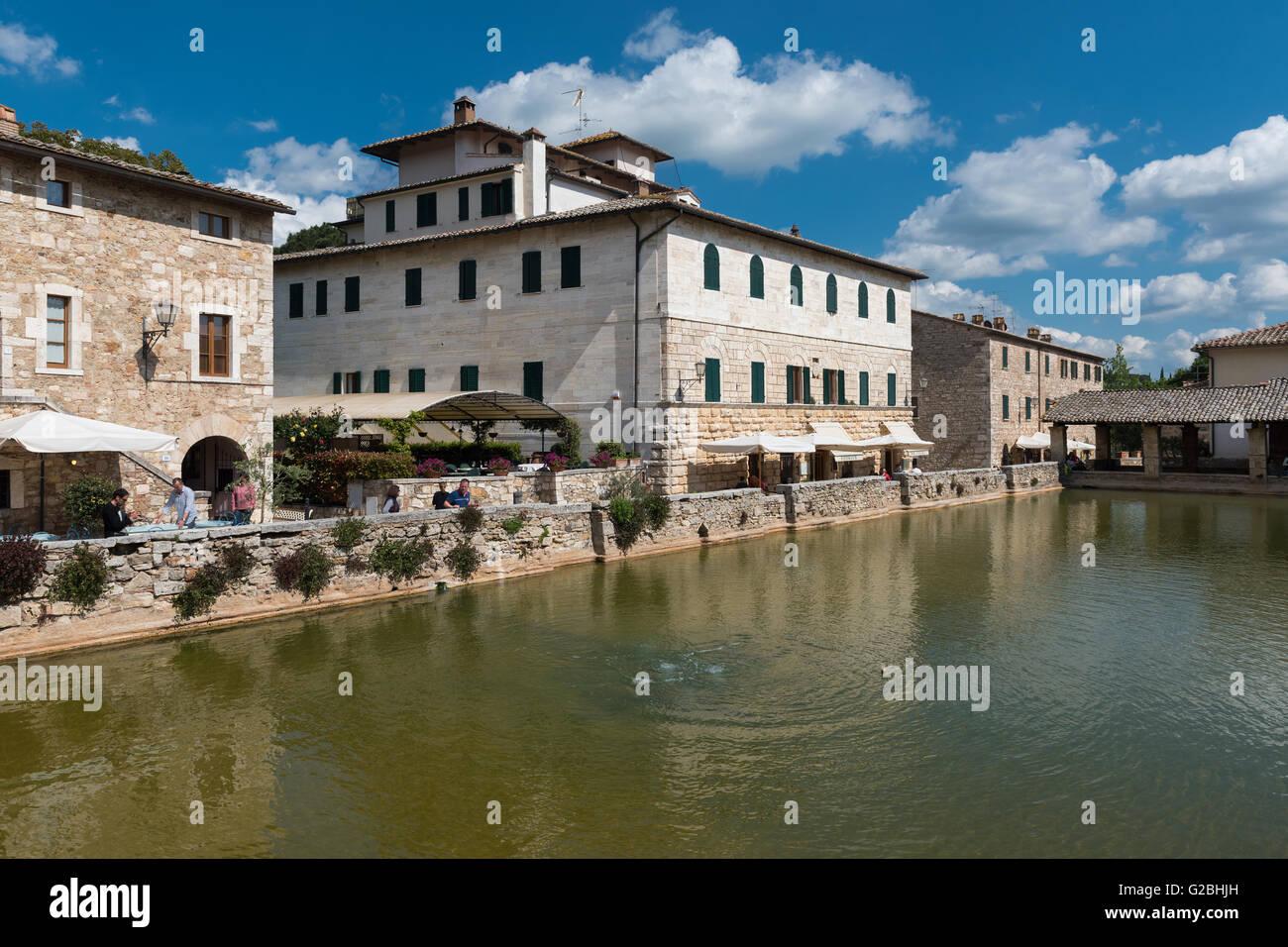 hot springs pond spa bagni san filippo castiglione dorcia province of siena tuscany italy