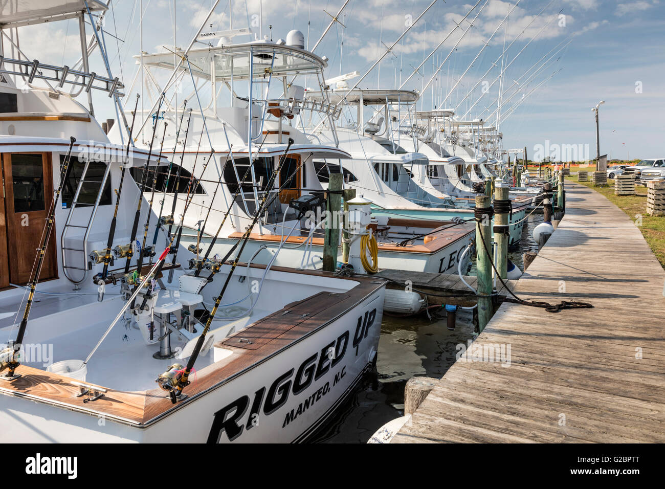 Deep Sea Sport Fishing Boats For Hire Docked At Oregon