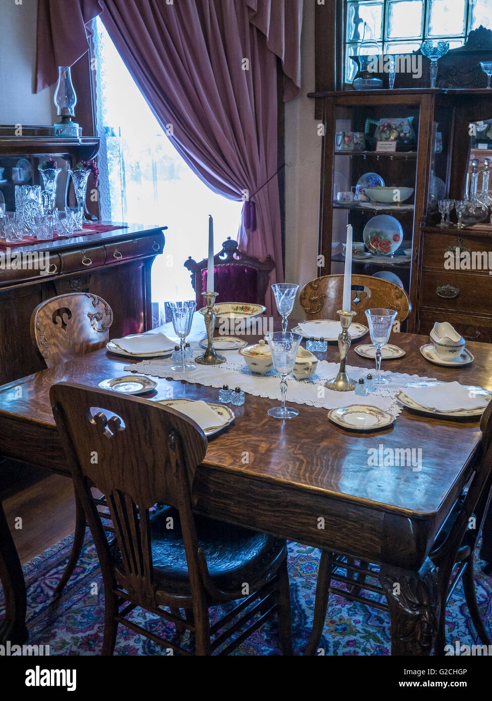 Historic Dining Room Frontier Historical Museum Glenwood Springs Colorado