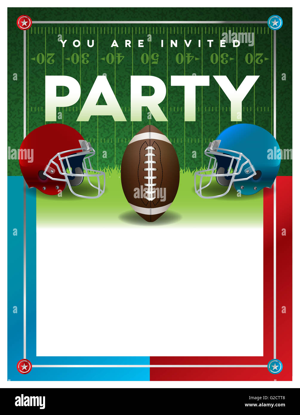 An American football party invitation flyer template design with – Party Invitation Flyer