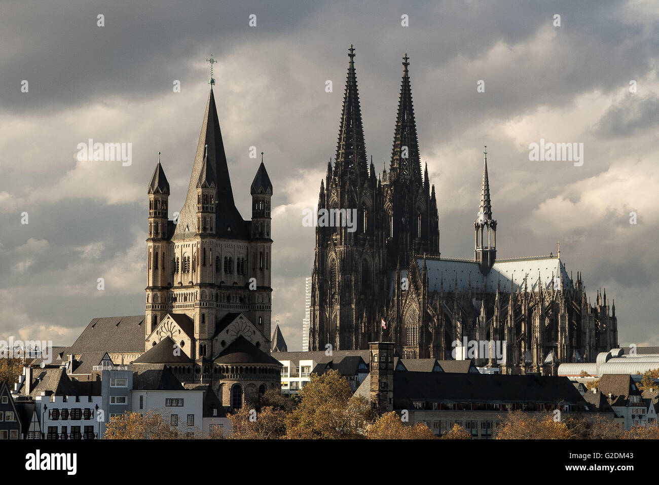 cologne germany martin church st cathedral europe river architecture city  koln rhine german sky building landmark famous house o