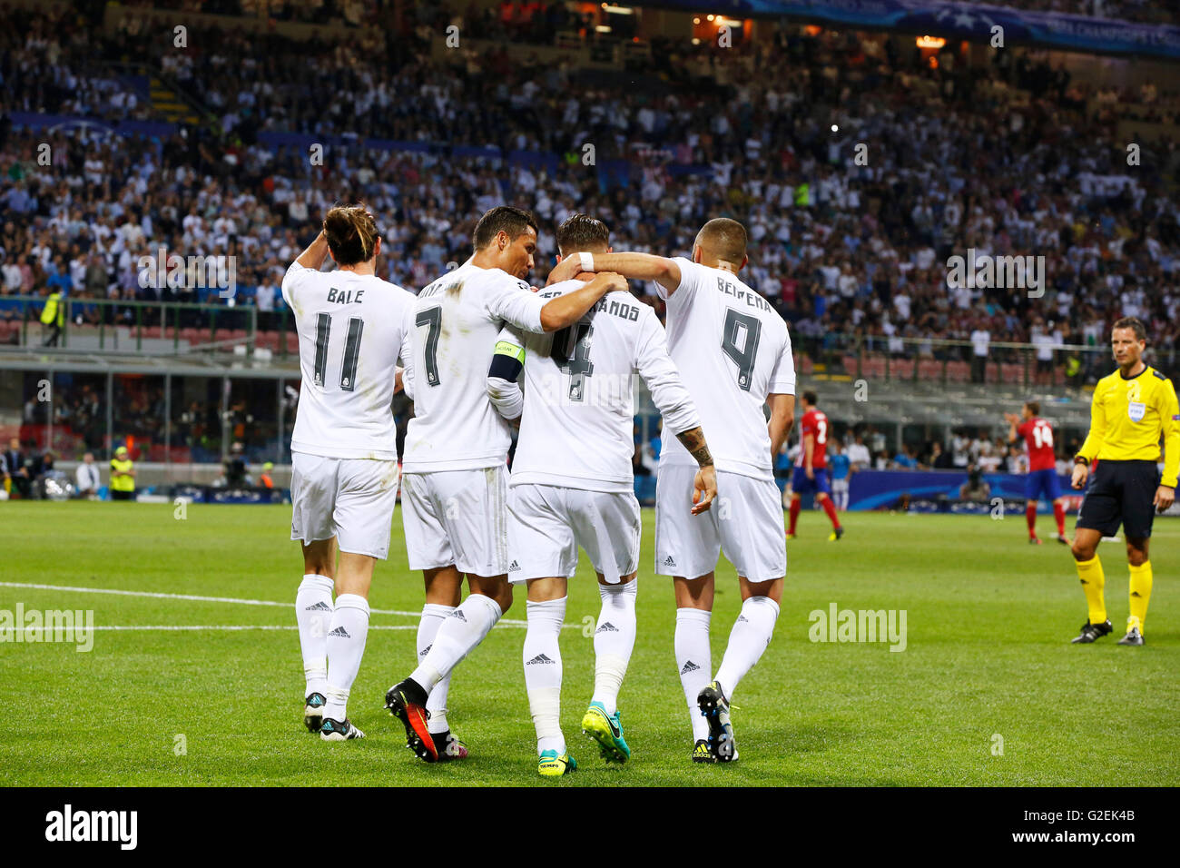 real madrid team group real may 28 2016 football soccer stock photo royalty free image. Black Bedroom Furniture Sets. Home Design Ideas