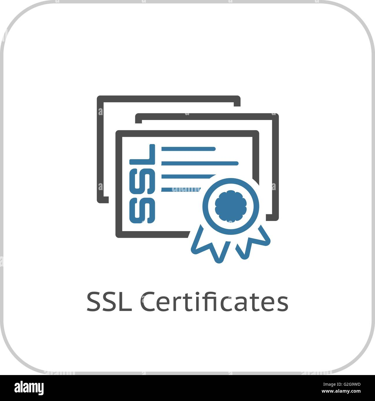 Ssl certificates icon flat design stock vector art illustration ssl certificates icon flat design 1betcityfo Images