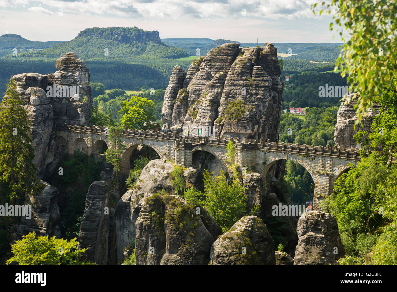 Bastei Bridge Elbe Sandstone Mountains Saxony Germany