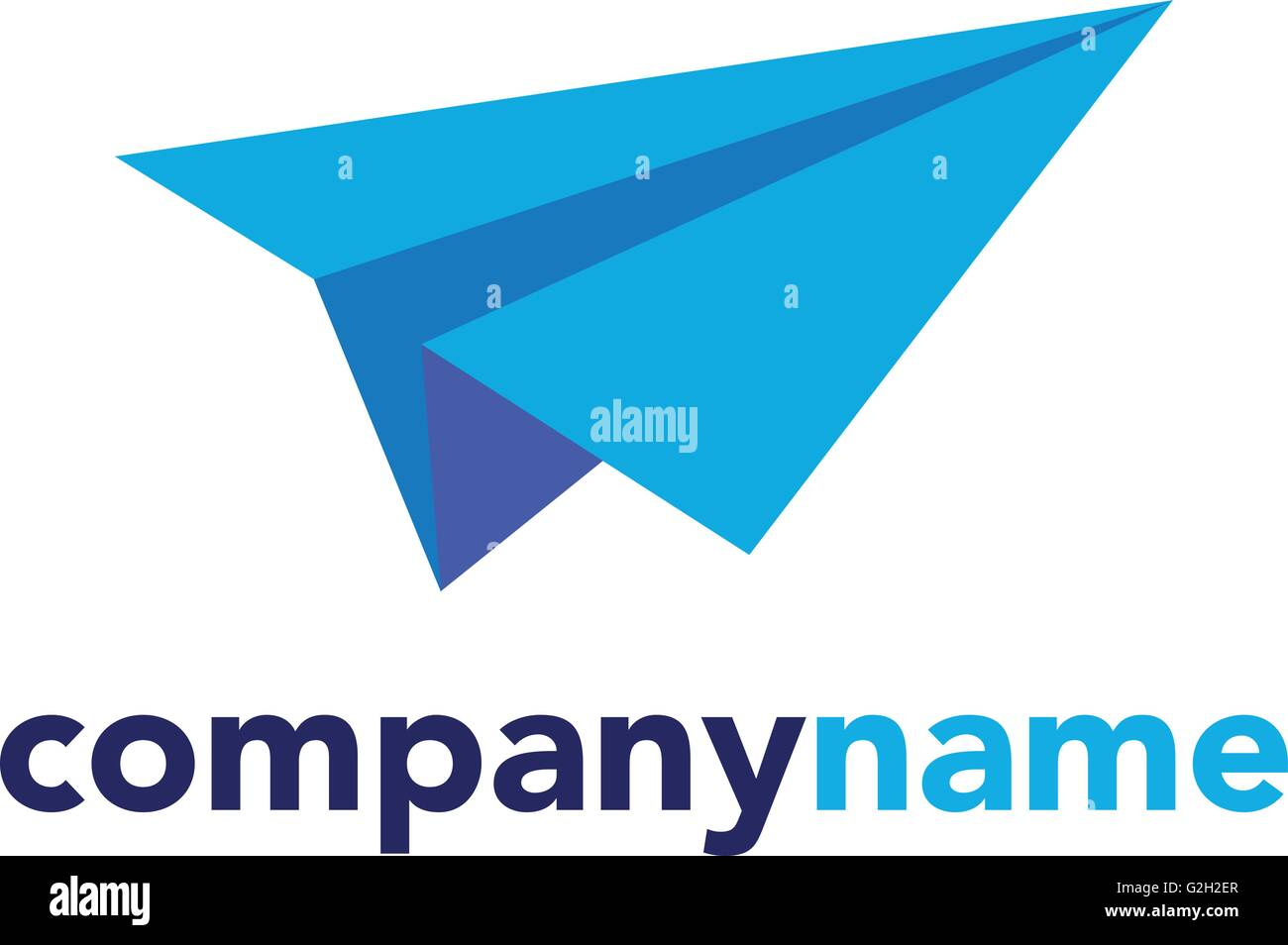 Vector modern paper plane logo Stock Vector Art ...