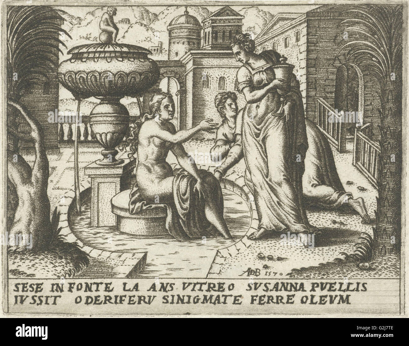 Susanna bathing abraham de bruyn 1570 stock photo - De breuyn mobel ...