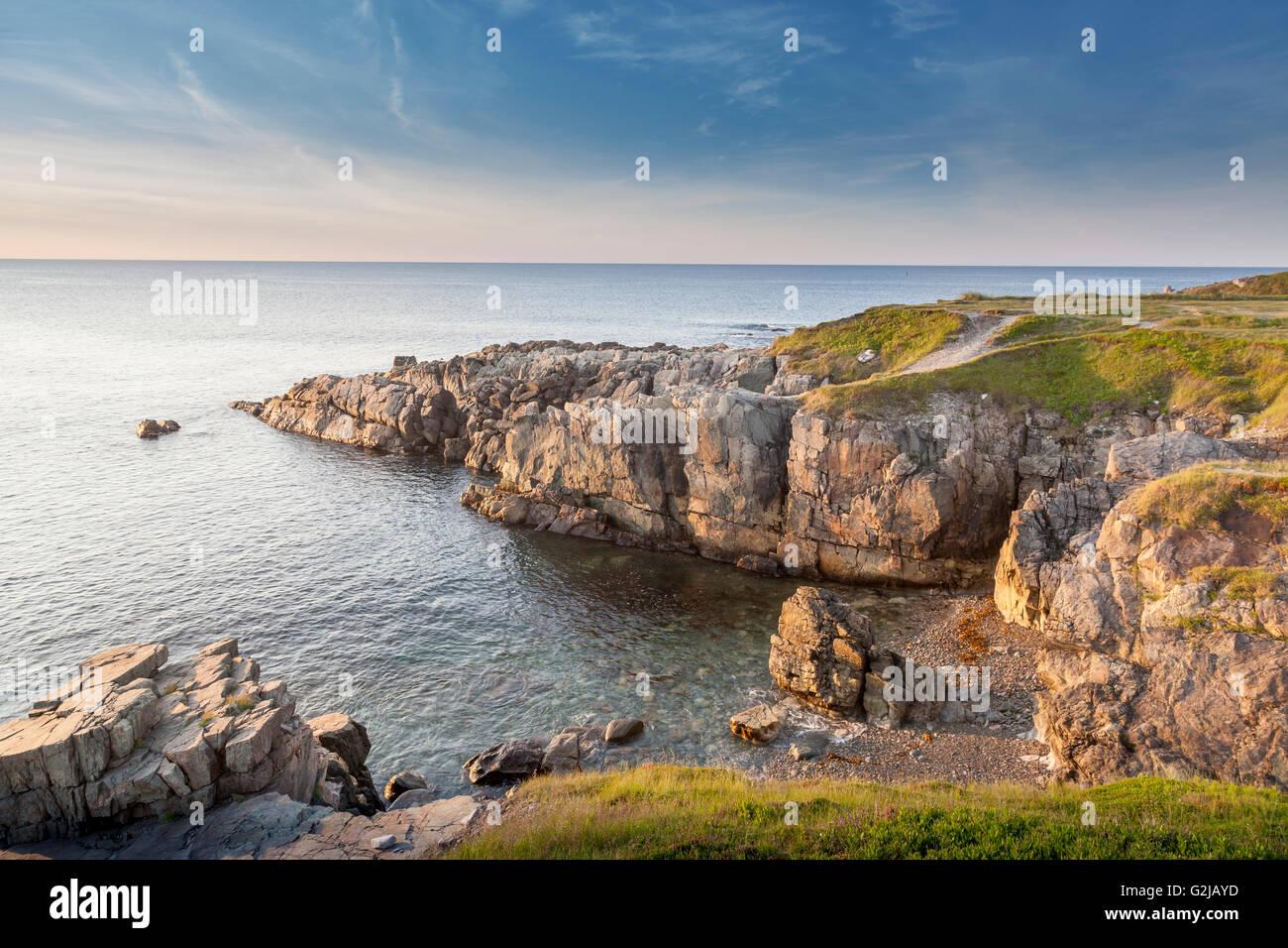 cliffs at lighthouse point at louisbourg  nova scotia