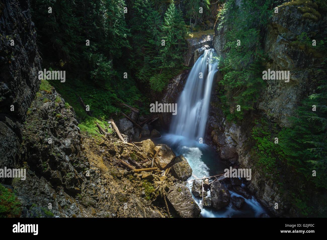 Lady Falls, Waterfall, Strathcona Provincial Park Near Campbell River, British  Columbia, Canada