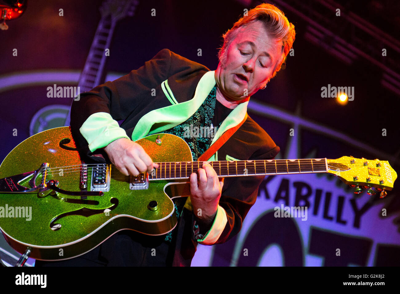 vigevano italy 02th july 2011 the american band brian setzer and stock photo royalty free. Black Bedroom Furniture Sets. Home Design Ideas