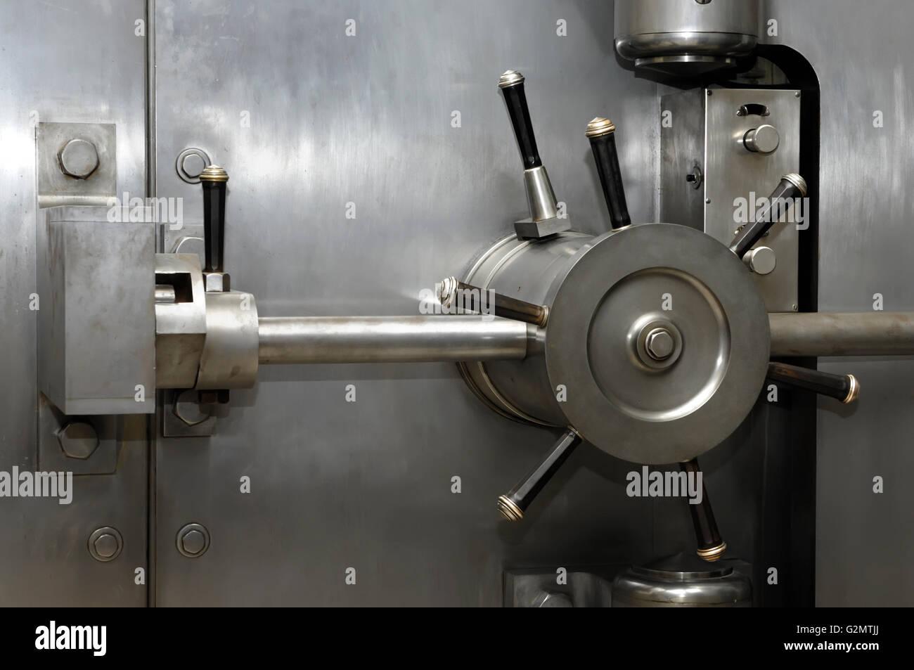 stainless steel bank vault door lock