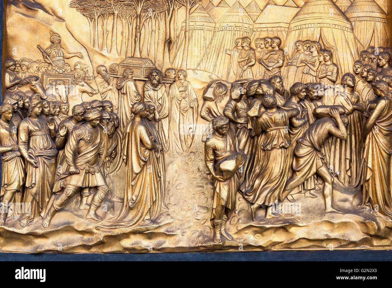 Florence Baptistery Fall of Jericho bronze panel East doors Gates of Paradise by Lorenzo Ghiberti Florence Italy & Florence Baptistery Fall of Jericho bronze panel East doors ... Pezcame.Com