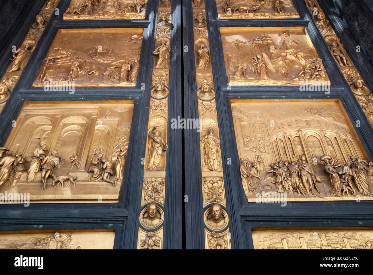 Florence Baptistery bronze East doors Gates of Paradise by Lorenzo Ghiberti Piazza Del Duomo Florence Italy & Florence Baptistery bronze East doors Gates of Paradise by ... Pezcame.Com