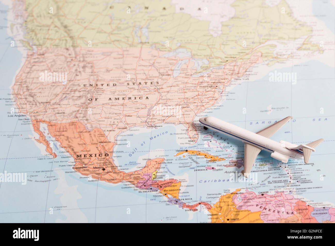 Travel United States Of America A Passenger Plane Over The USA - United states travel map