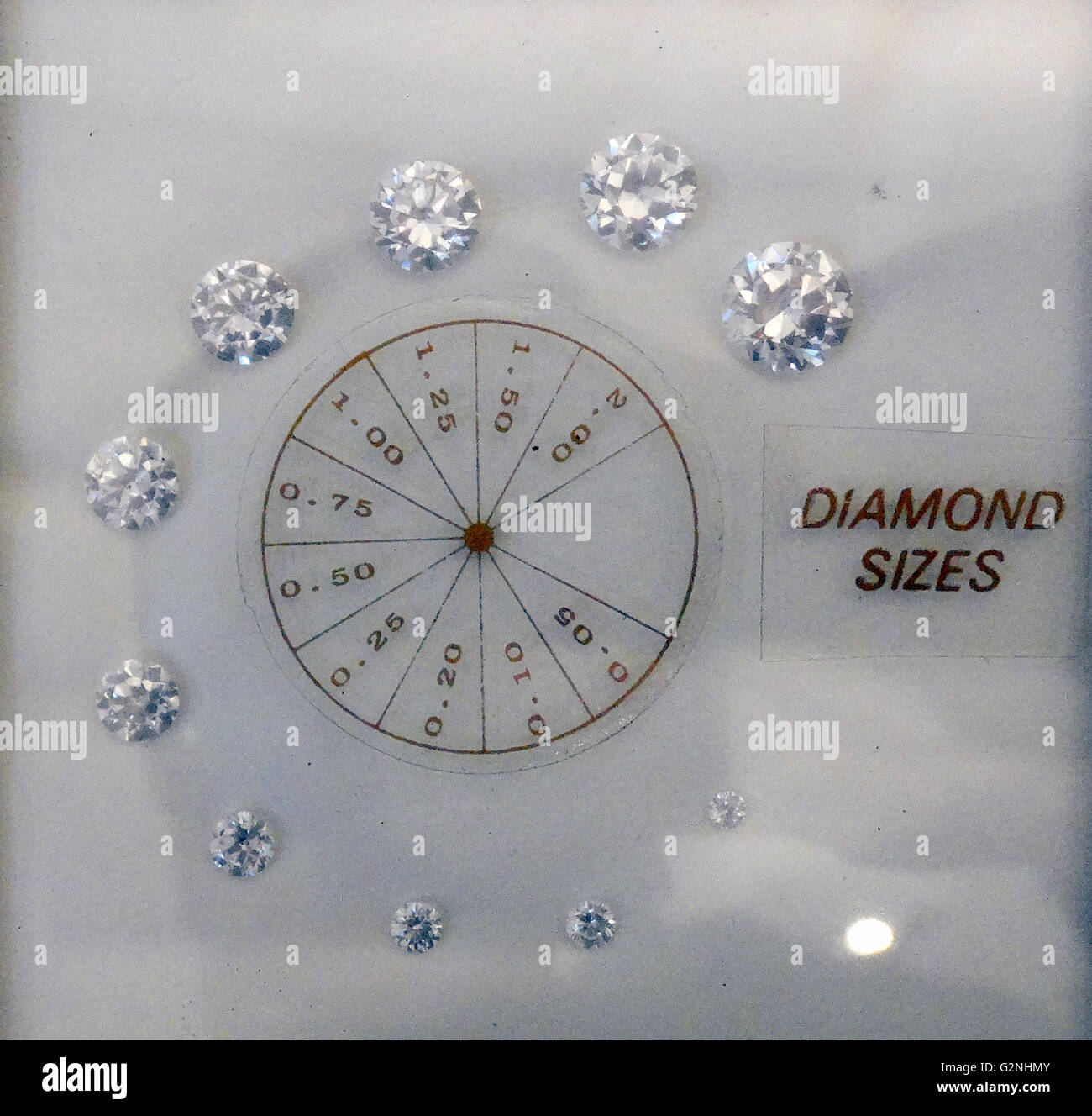 Diamond size chart stock photo 104966427 alamy diamond size chart nvjuhfo Choice Image
