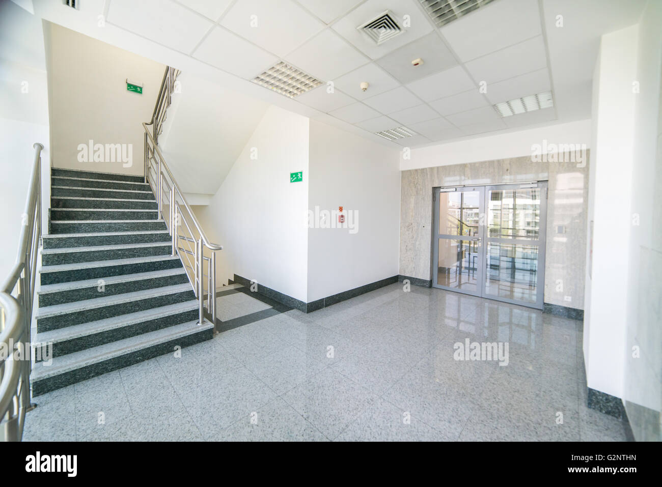 staircase in office building. Stairs and doors & staircase in office building. Stairs and doors Stock Photo ...