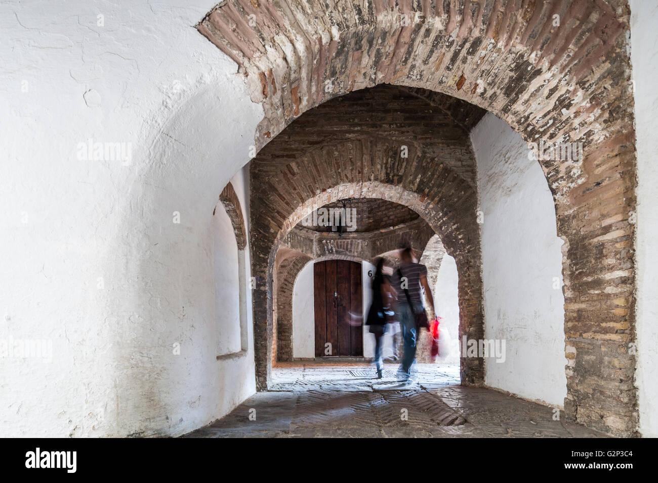 Callejon de la Juderia (Jewish quarter alley), Barrio de Santa Cruz Stock Pho...