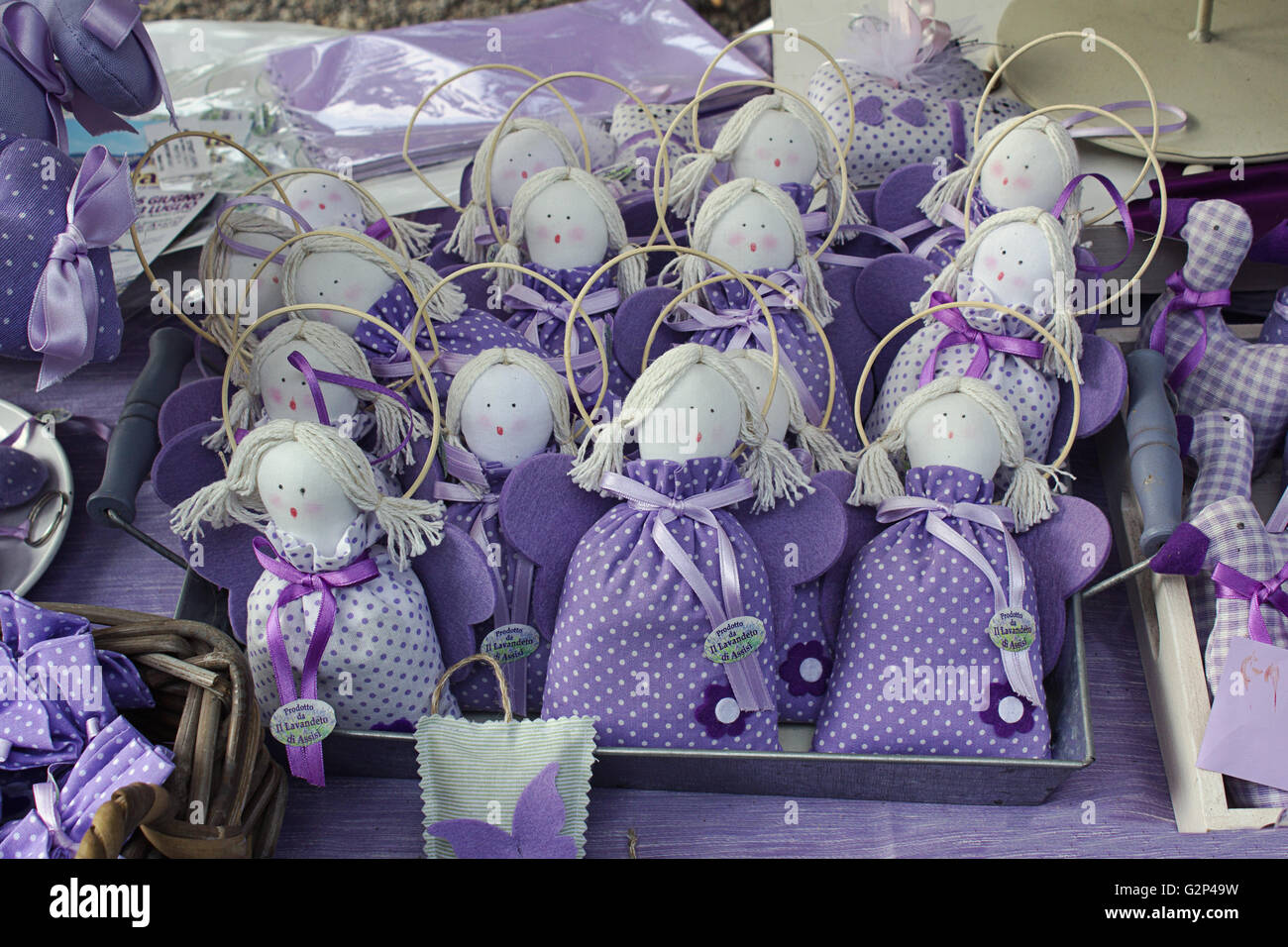 lavender flower handmade accessorizes in all violet and blue