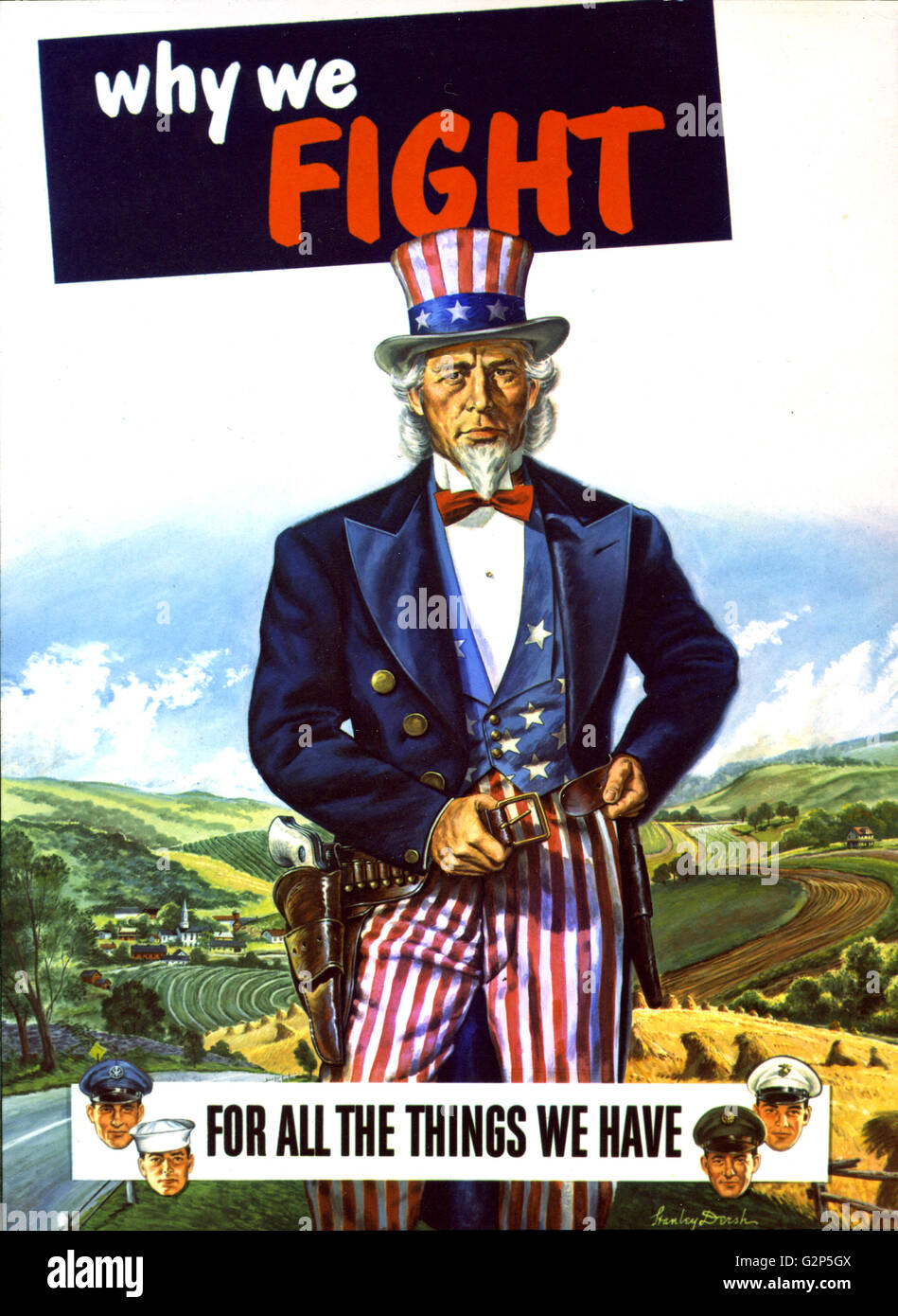 G Force Comp 2 A S >> Post-World War II poster painting showing Uncle Sam, assisted by men Stock Photo, Royalty Free ...
