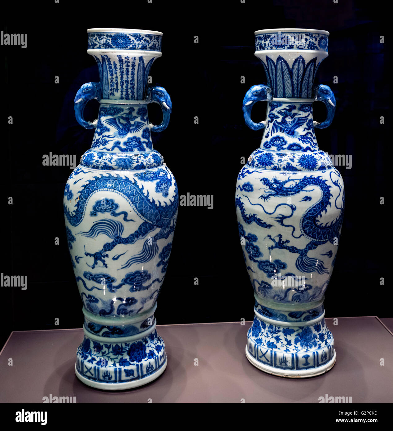 The david vases two of the best known pieces of chinese large porcelain altar vases of ancient bronze form with two applied elephant head handles yuan dynasty made in jingdezhe 1351 reviewsmspy