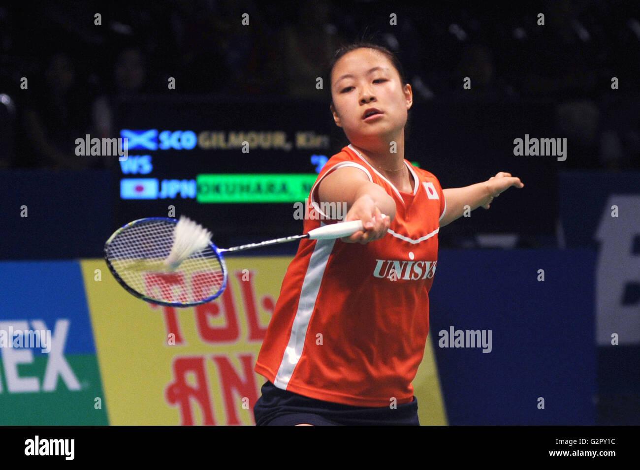 Jakarta Indonesia on June 02 2016 Nozomi Okuhara of Japan win