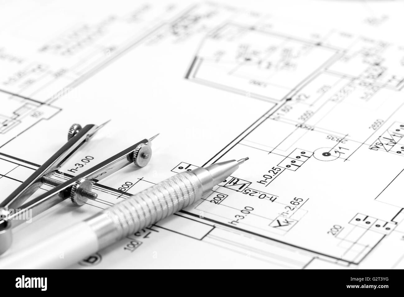 house building construction plans with calculator pencil and house building construction plans with calculator pencil and compass