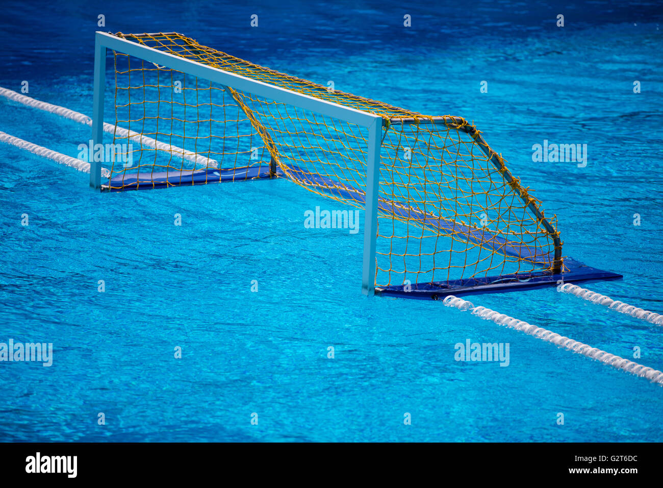water polo goal gate in olympic swimming pool stock photo olympic swimming pool background