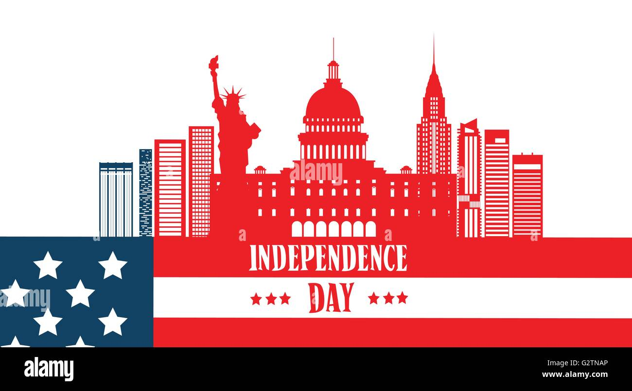 Happy independence day united states american famous building happy independence day united states american famous building symbol biocorpaavc