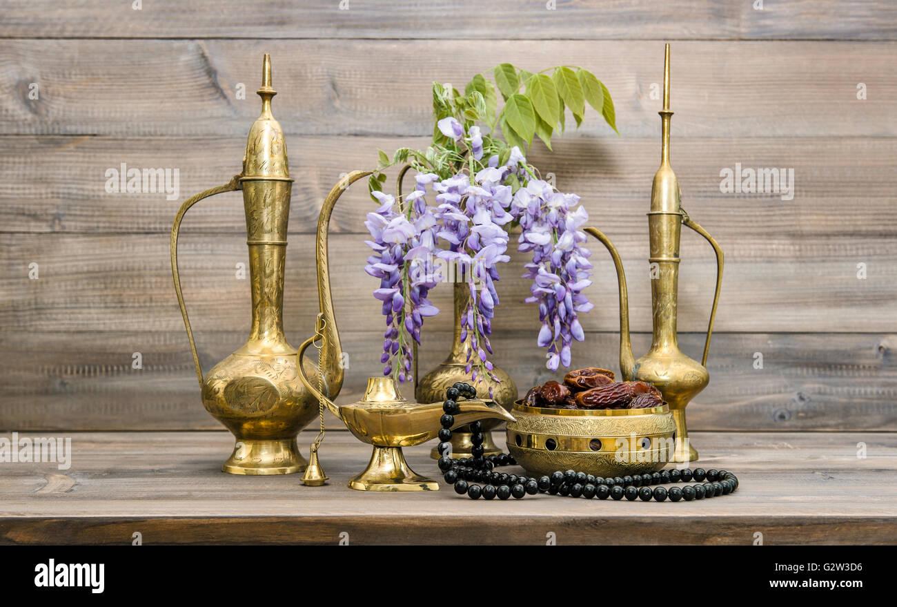 Vintage arabic jug vase lamp tea pot islamic rosary beads vintage arabic jug vase lamp tea pot islamic rosary beads fruits and flowers oriental holidays decoration ramadan kareem reviewsmspy