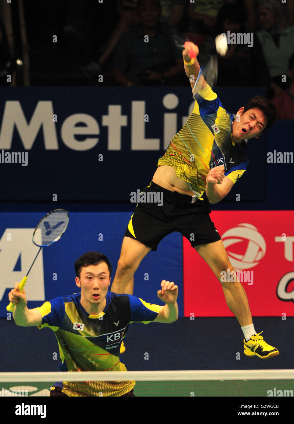 Jakarta Indonesia 4th June 2016 Lee Yong Dae R and Yoo Yeon