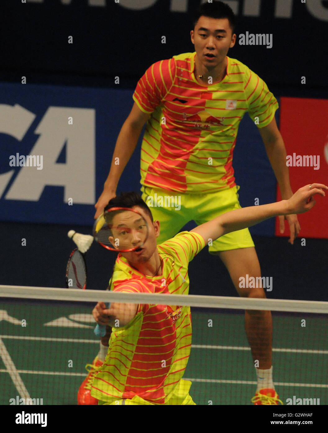 Jakarta Indonesia 4th June 2016 Chai Biao front and Hong Wei