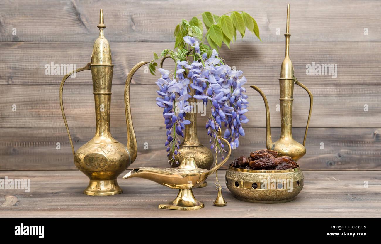 Vintage arabic jug vase lamp tea pot fruits and flowers vintage arabic jug vase lamp tea pot fruits and flowers golden oriental decorations reviewsmspy