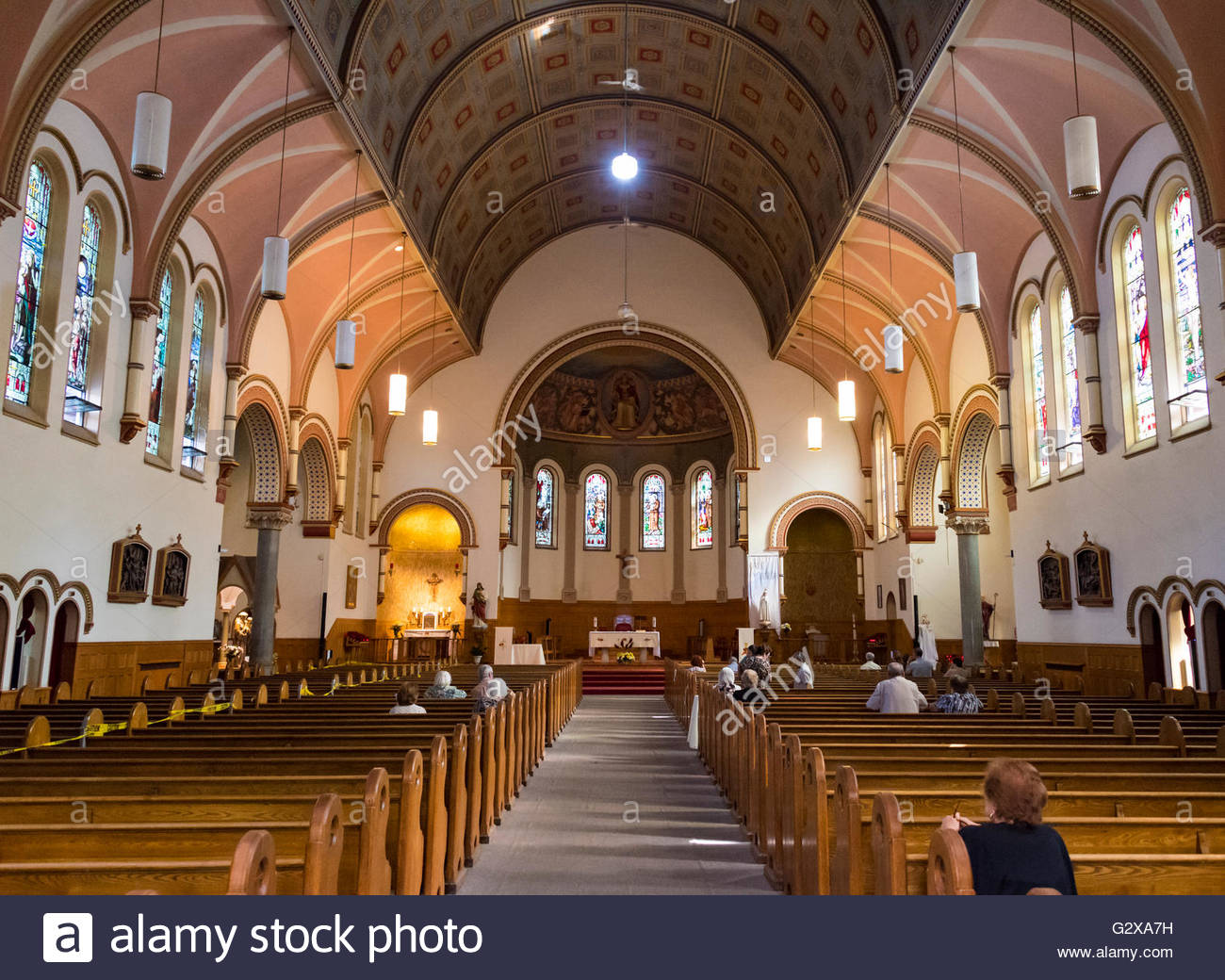 Saint St Anthonys Catholic Church Gothic Revival Interior Details The Is Located In Bloor Street Downtown Toronto