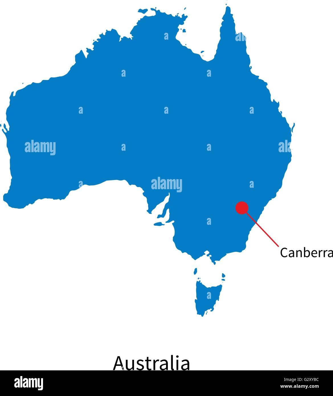 Australia Capital Map My blog