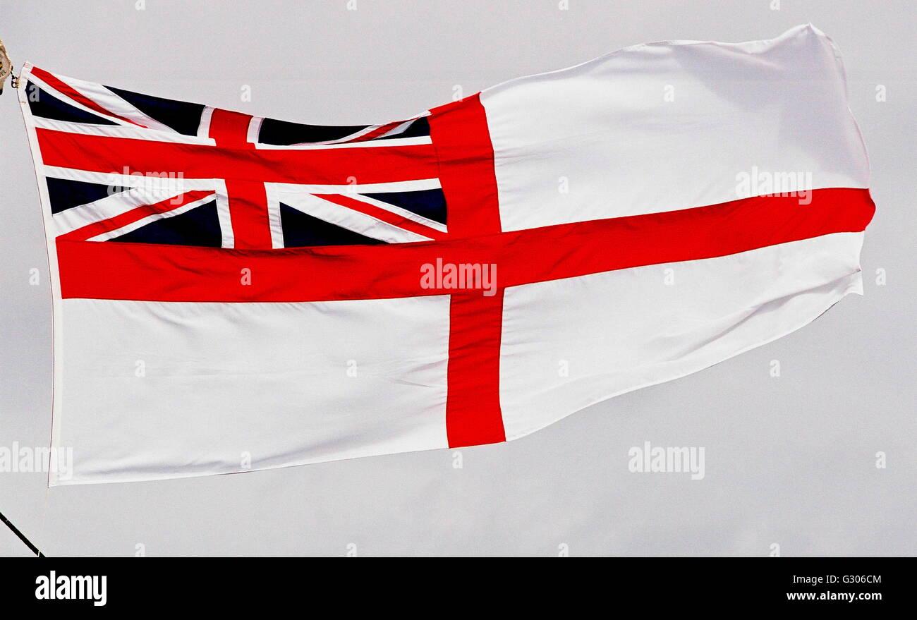 ajax news photos portsmouth england flag white ensign of