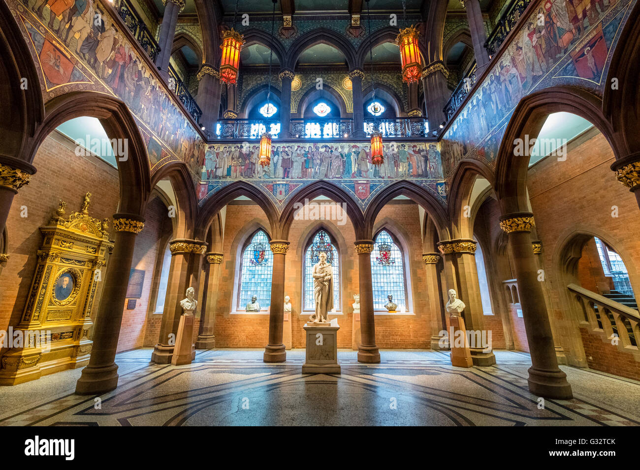 interior of scottish national portrait gallery in edinburgh stock photo  royalty free image