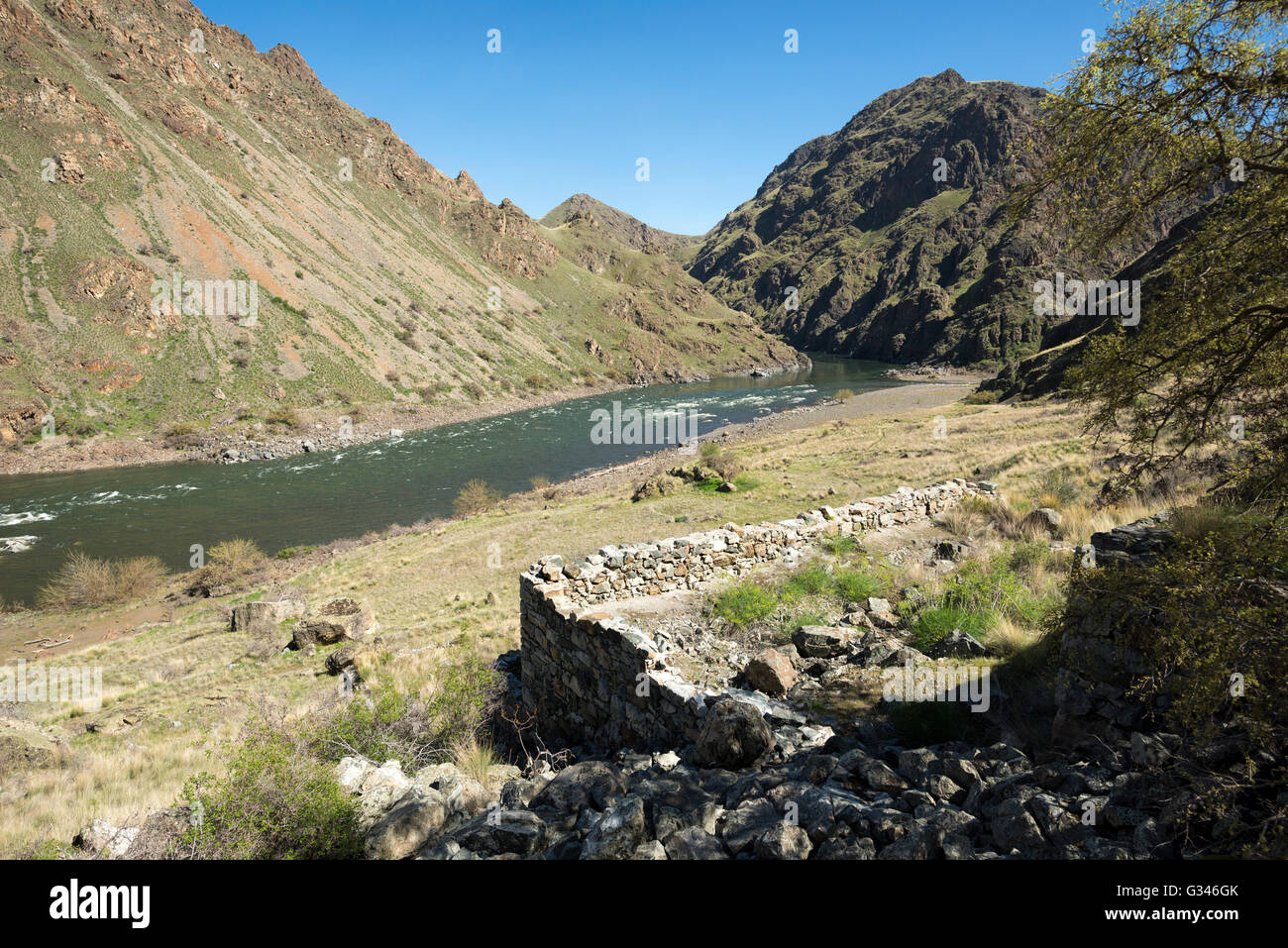 Remains of the foundation of the mining mill at eureka bar hells remains of the foundation of the mining mill at eureka bar hells canyon oregon sciox Image collections