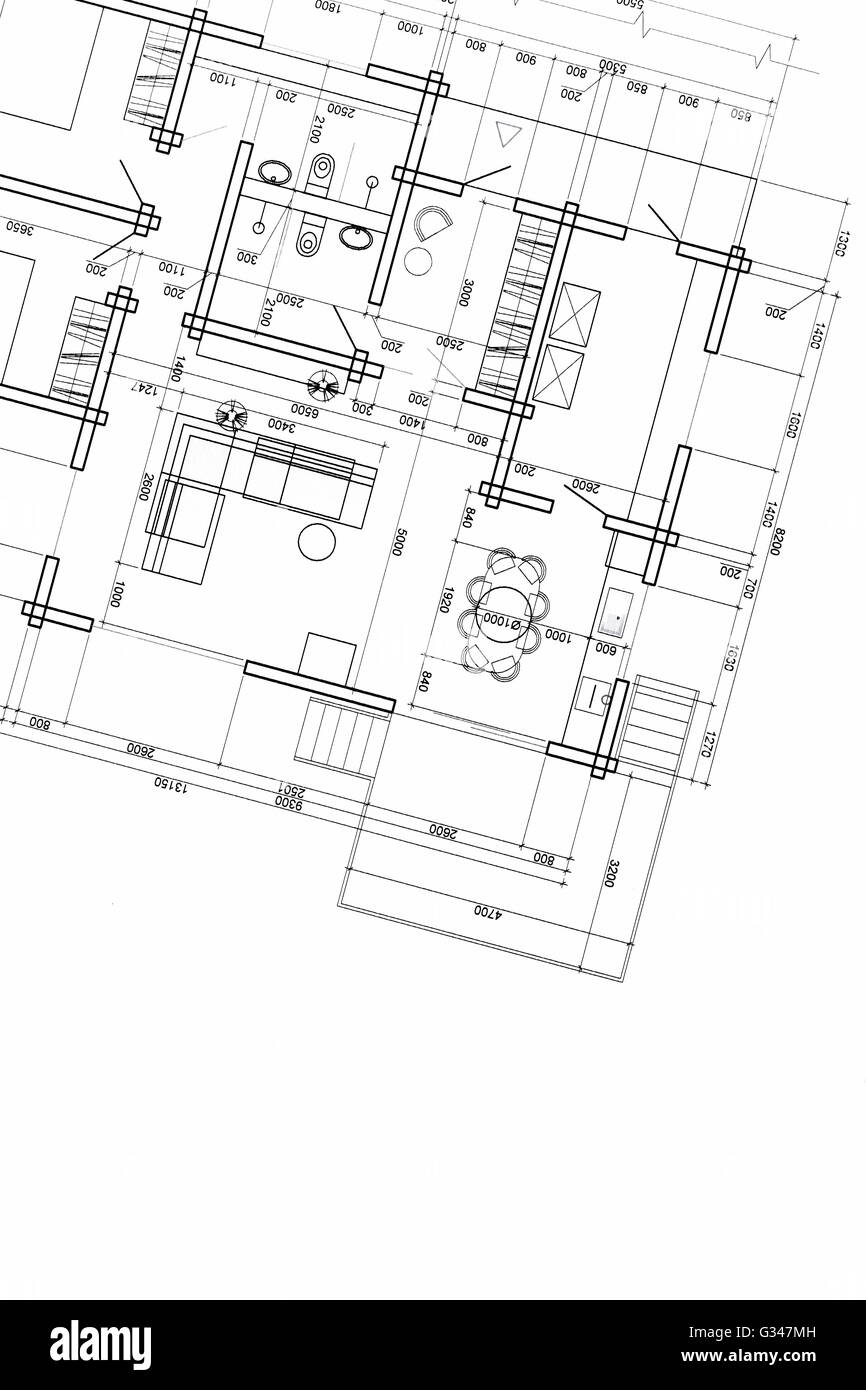 Construction drawings blueprints stock photo house plan blueprint stock photo house plan blueprint architectural drawing part of architectural project malvernweather Images