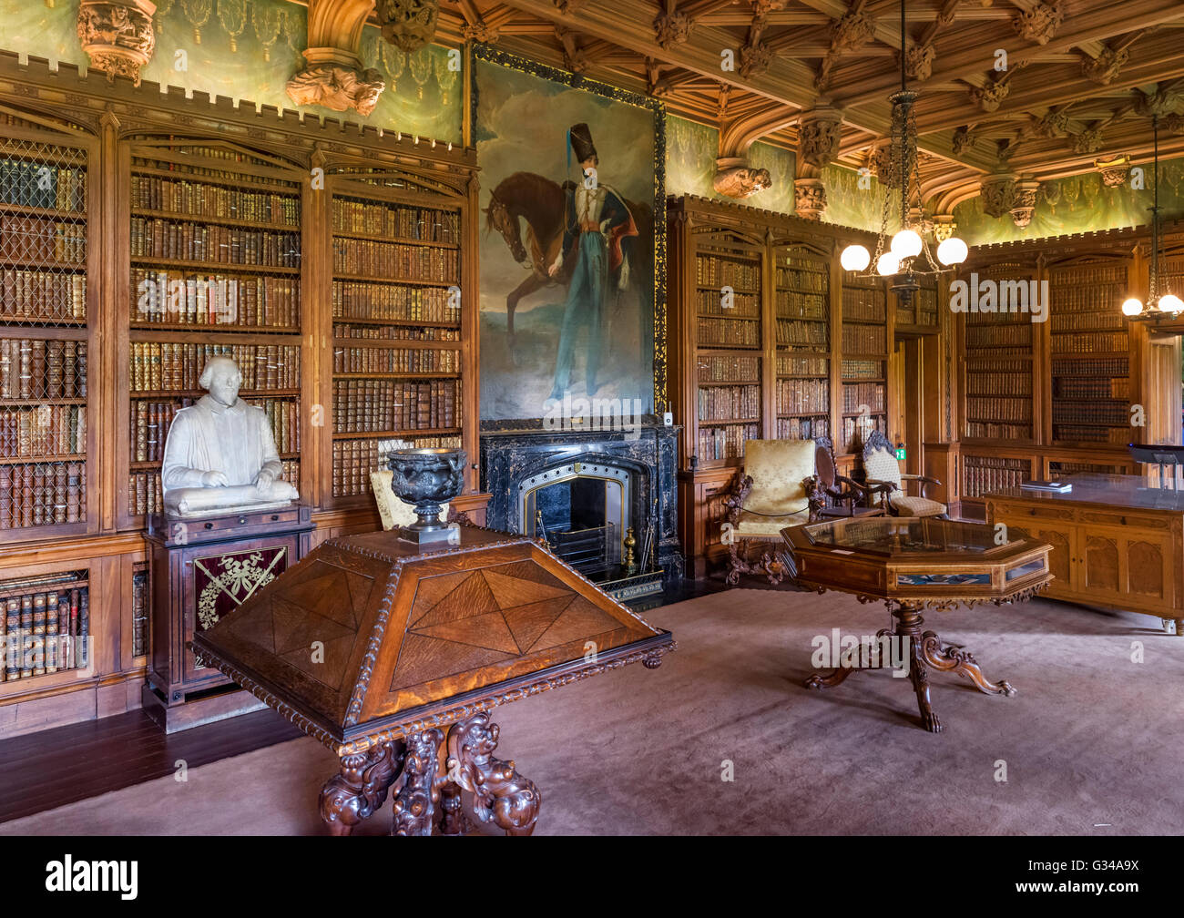 Library In Abbotsford House Former Home Of The Novelist And Poet Sir Stock Photo Royalty Free